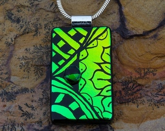 Fused Glass Pendant by BluDragonfly SRA