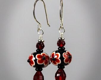 Handmade Lampwork Earrings by BluDragonfly SRA - Matador Lampwork Earrings