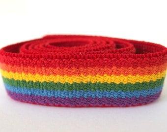 Vintage 1980's Rainbow Elastic Belting