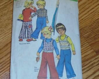 Vintage Pattern  child 3 pc set  pants shirt and vest in size 2-Simplicity 8791