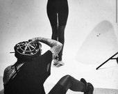 SALE 20% Kat Von D in BABOOSHKA Black Matte Faux Vegan Leather Panelled Thigh High Legging Black Fitted Skinny Modern Pu Tights Pants Goth U