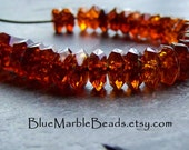 Faceted Beads-Spacer Beads-Tortoise Shell-Vintage Lucite-Lucite Beads-Amber Beads-50 Beads