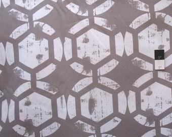 Ty Pennington HDTY13 Home Decor Honeycomb Gray Fabric By The Yard