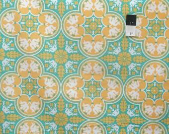 Joel Dewberry PWJD068 Notting Hill Historic Tile Canary Cotton Fabric 1 Yard