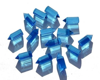 55% OFF SALE 10 Pieces AAA Swiss Blue Quartz Faceted Pencil Point Size 20x8mm Approx, Swiss Blue Pencil, Point Pencil