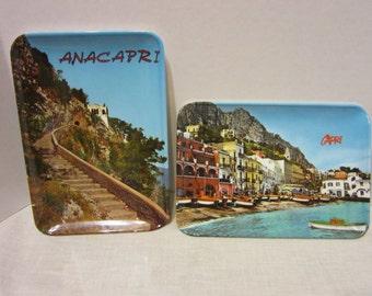 Vintage Capri/Anacapri Plastic Souvenir Trays - Interdipress Napoli