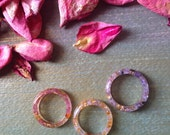 Orgonite Heart Gemstone Rings