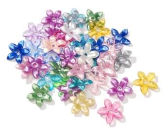 Acrylic Beads - Flower - Multi Color - 18mm fnt