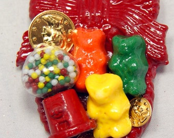 Gumball and Gummy Bears Miniatures Brooch