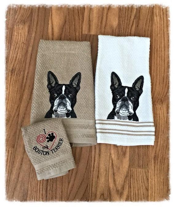 Boston terrier towel | Etsy