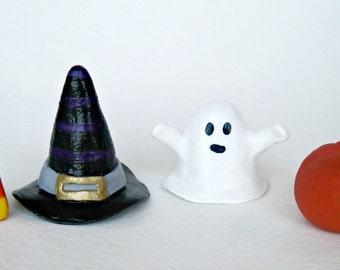 Halloweenie Trinkets, Paper Mache Halloween Figurines, Halloween Gifts
