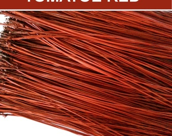 Pine Needles for Gourd Art or Basket Coiling - Dyed Florida Long Leaf  - TOMATOE RED