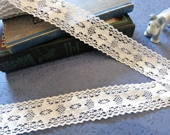 Vintage White Cotton Crochet Lace Trim