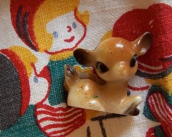 wee baby fawn deer figurine