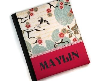 Dark Pink Cherry Blossom Maylin Baby Memory Book