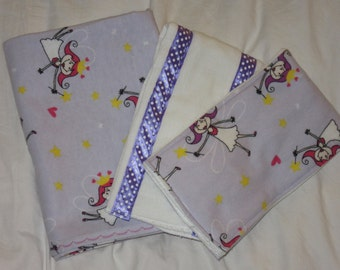 receiving blanket for girl - large baby wraps - fairies abound