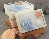 Beaches Handmade Glycerin Soap Bar - Underwater Beach Themed Soap in Coconut Scent