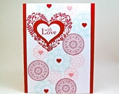 with love Valentine's Day card - Valentine's Day card - with love card