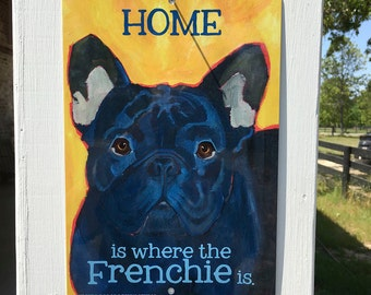 French Bulldog metal sign wall decor dog art sign custom indoor outdoor metal sign beach porch mudroom laundry decor