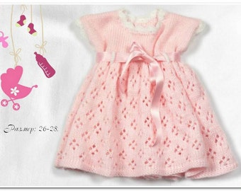 Made to order - Knitted baby girl dress