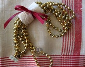Vintage Gold Mercury Glass Bead Garland, 60 Inches