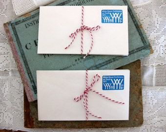 Vintage White House Conference on Youth, Blue Embossed Stamped Envelopes (10), 6 cent stamp