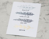 Leaves- Gold Leafed Archival Print