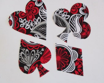 Card Suit Iron On Appliques Set