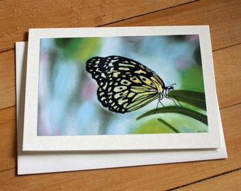 Butterfly Greeting Card, Blank Greeting Card, Note Card, Art Card, Any Occasion, Birthday Card, Painting, Envelope, Realism, Print, Handmade