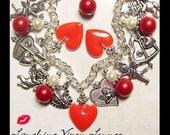 Valentines Day Bracelet - Valentines Day Jewelry - Valentine Jewelry - Valentines Day Bracelet - Valentine Necklace Valentines Day Necklace