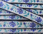 3 Yards Fabric Trim Jacquard Ribbon Purple Lavender Lilac Rose  VT 27