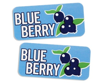 Blueberry Bakery Labels - stickers for packaging cookies, cake, treats, and baked goods
