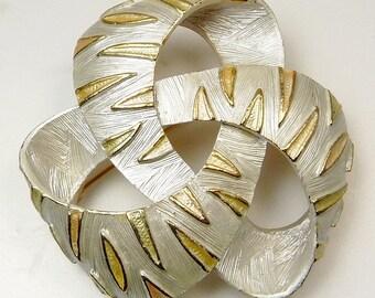 Mid Century Kramer Silver & Gold Brooch