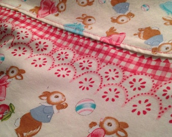 Busy Bunnies Chenille Baby Blanket