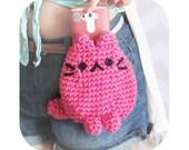 adorable kitty cat neko belt bag - festival bag - kawaii and cute - mini purse - choose any color