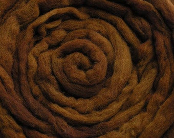 200g Acid Dyed Oatmeal Merino D'Arles Wool Top -  Caramel