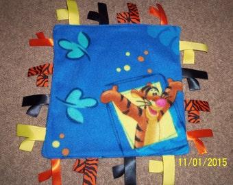 Tigger, Homemade Fleece Ribbon Blanket, Baby