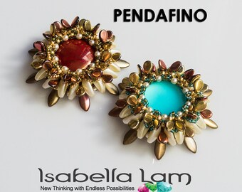 PENDAFINO  Cabochon Pendant PDF Beading tutorial for personal use only