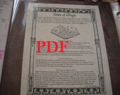Laws of Magic PDF -- Book of Shadows -- BOS page