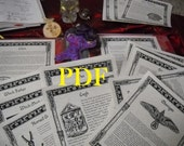 NEW Gods Goddesses and the Mighty Ones BOS Sheets PDF specialty pack -- 23 sheets -- Book of Shadows pages