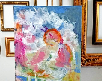 """original 18""""x24"""" abstract painting by Mary Kaiser"""