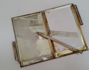 vintage silverplated note and pen set