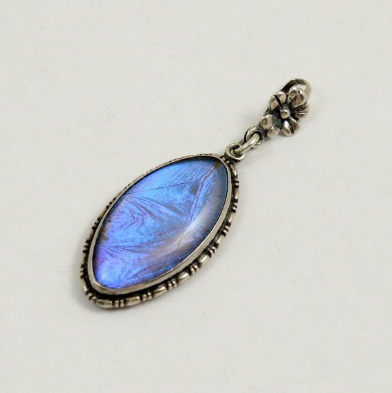 Vintage Butterfly Wing Pendant Art Deco Sterling Silver