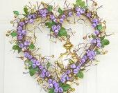 Purple heart wreath