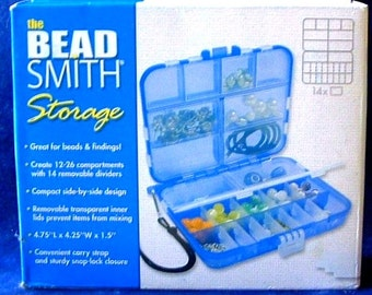BEADSMITH Jewelry Making Beader Mini STORAGE Container BEAD Travel Kit - Carrying Strap - Travel Kit