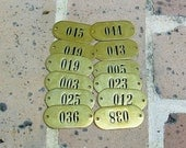 Vintage Antique Brass Number Tags Brass Numbered Tag Hotel Room Number Tag Locker Tag Tags Steampunk Jewelry DIY Jewelry