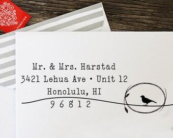 Self Inking Stamp, Return Address Stamp, Custom Wedding Gift, Custom Rubber Stamp, Personalized Rubber Stamp, Custom Address Stamp - 1047
