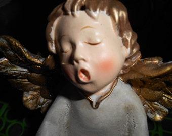 Vintage Christmas Child Angel figurine