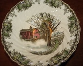 Two Vegetable Bowls Johnson Brothers Autumn Mist Friendly Village