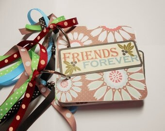Friends Memory Album, Friends Mini Album, Friends Scrapbook, Friends Photo Album, Friends Brag Book, Special Moments Mini Album